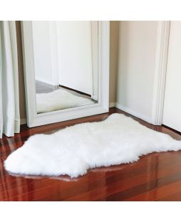 Auskin Long Wool Sheepskin Rug Natural (105cm)