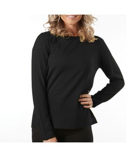 Merino Wool Essential Pullover - Black