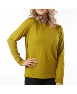 Merino Wool Essential Pullover - Chartreuse