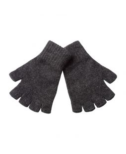Possum Essential Fingerless Gloves Light Charcoal