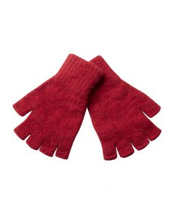 Possum Essential Fingerless Gloves Red