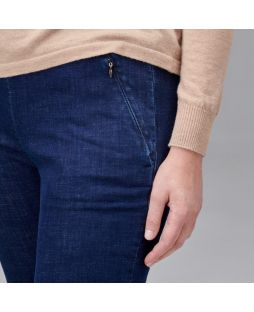PA015 IND|Regular Length Straight Leg Denim Pant - Indigo