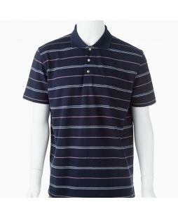 Ansett Blue Horizon Multi Stripe Polo - Navy
