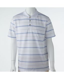 Ansett Blue Horizon Multi Stripe Polo - White
