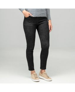 Regular Length Slim Leg Denim Pant - Black
