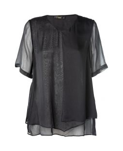 Silk Verity Blouse Black