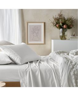 Eucalyptus Cotton Sheet Set - White