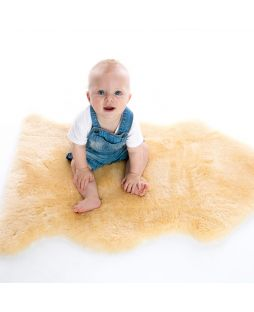 Auskin Infant Short Wool Sheepskin Maize