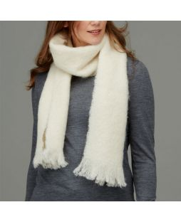 Alpaca Brushed Scarf Cream