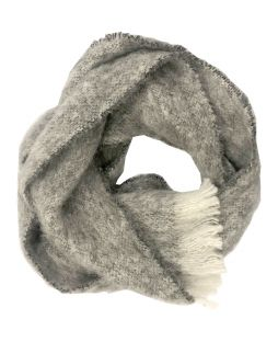 Alpaca Brushed Scarf Grey Marl
