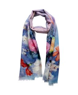 Printed Scarf Floral Photograph