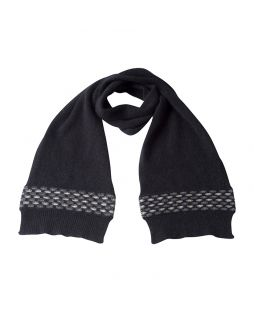 Possum Wave Trim Scarf Black