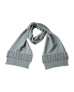 Possum Wave Trim Scarf Mint