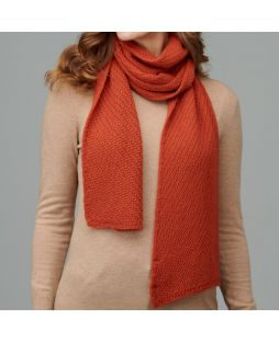 Alpaca Moss Stitch Scarf Burnt Orange