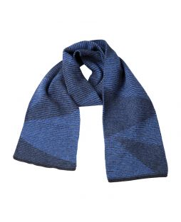 Possum Dalton Shadow Scarf Light Charcoal