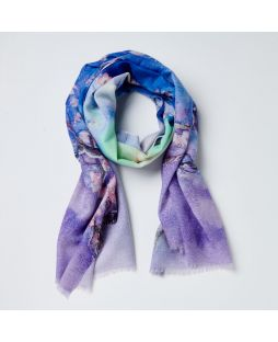 Print Scarf 100% Wool- Violet Blossom