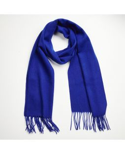 Cashmere Lambswool Scarf Blue