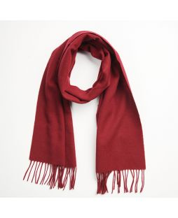 Cashmere Lambswool Scarf Burgundy
