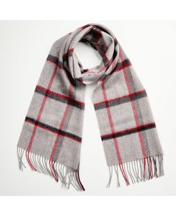 Cashmere Lambswool Scarf Red Check