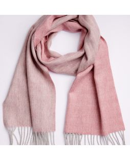 100% Lambswool Scarf 2 Tone Dusty Pink