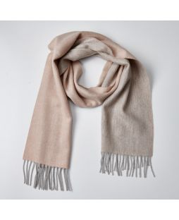 100% Lambswool Scarf 2 Tone Natural