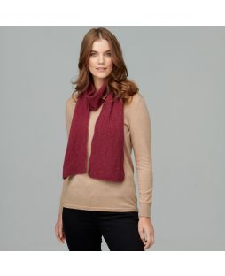 Possum Tambo Lace Scarf Red Violet
