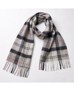 Cashmere Charcoal Multi Check Scarf -