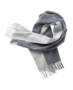Cashmere Shawl Two Tone Grey