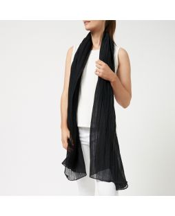 LINEN SHAWL Black