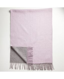 Lambswool Cashmere Shawl 2 Tone Pink/Grey
