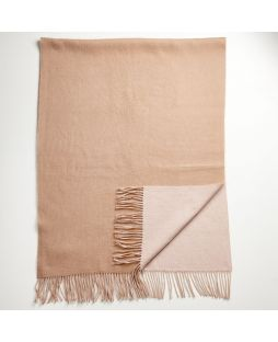 Lambswool Cashmere Shawl 2 Tone Taupe/Cream