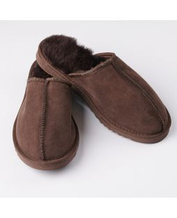 Australian Sheepskin Unisex Scuffs - Chocolate
