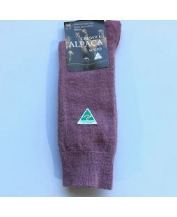 Alpaca Dress Socks Rose