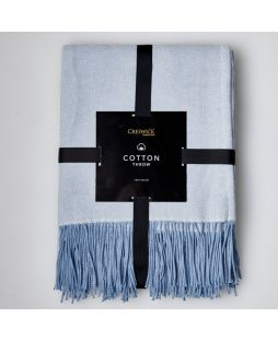 100% Cotton HB Throw Lt Blue 110 X 160