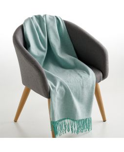 100% Cotton Throw Herringbone Aqua