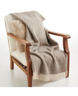 Alpaca Throw Rug Combo Brown