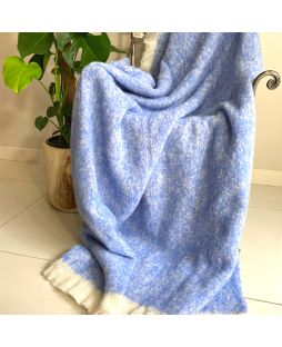 Alpaca Brushed Throw Pacific Blue