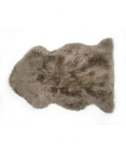 Auskin Long Wool Sheepskin Rug Taupe (85cm)