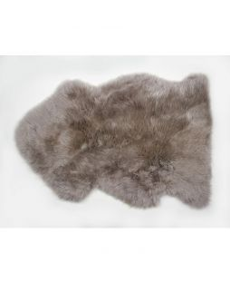 Auskin Long Wool Sheepskin Rug Rose Ebony (85cm)