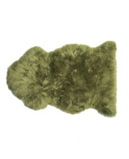 Auskin Long Wool Sheepskin Rug Lime (85cm)