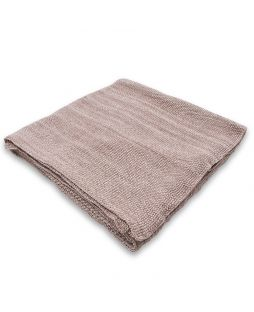 100% Cotton Moss Stitch Throw Rug - Natural