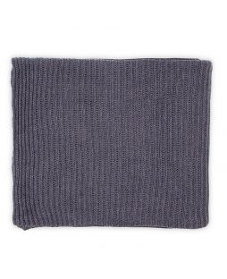 100% Cotton Rib Knitted Throw Rug - Dark