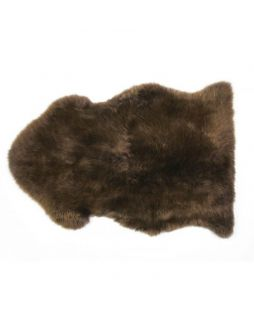 Auskin Long Wool Sheepskin Rug Walnut (95cm)
