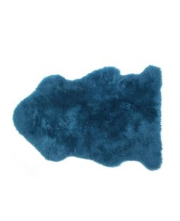 Auskin Long Wool Sheepskin Rug Teal (95cm)