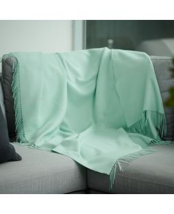 Fine Alpaca Throw - Aqua