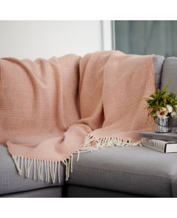 Alpaca Wool Throw Rug - Combo Rust