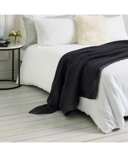 Brisbane Wool Blanket Charcoal