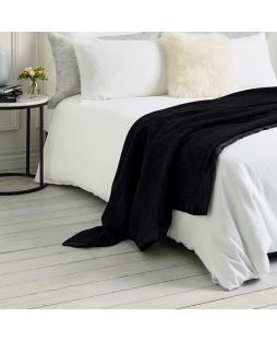Essential Merino Wool Blanket Black