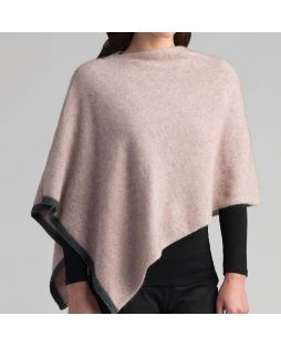 Two Tone Possum Poncho - Wistful/Slate