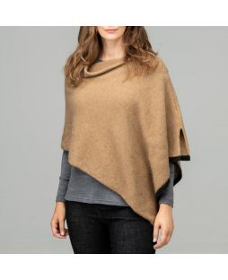 Two Tone Possum Poncho Camel
